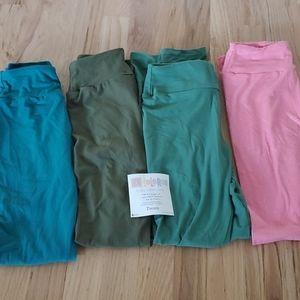 4 pairs of Tween Lularoe leggings brand new